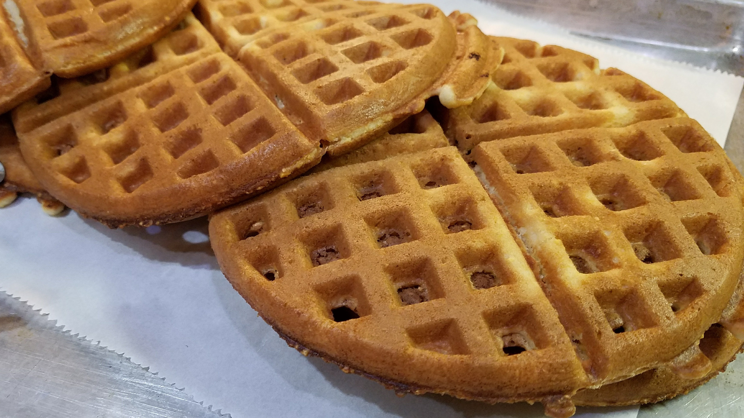 Beautiful golden Waffles