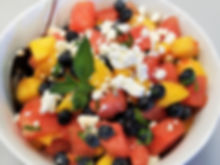 A Peachy Watermelon Salad