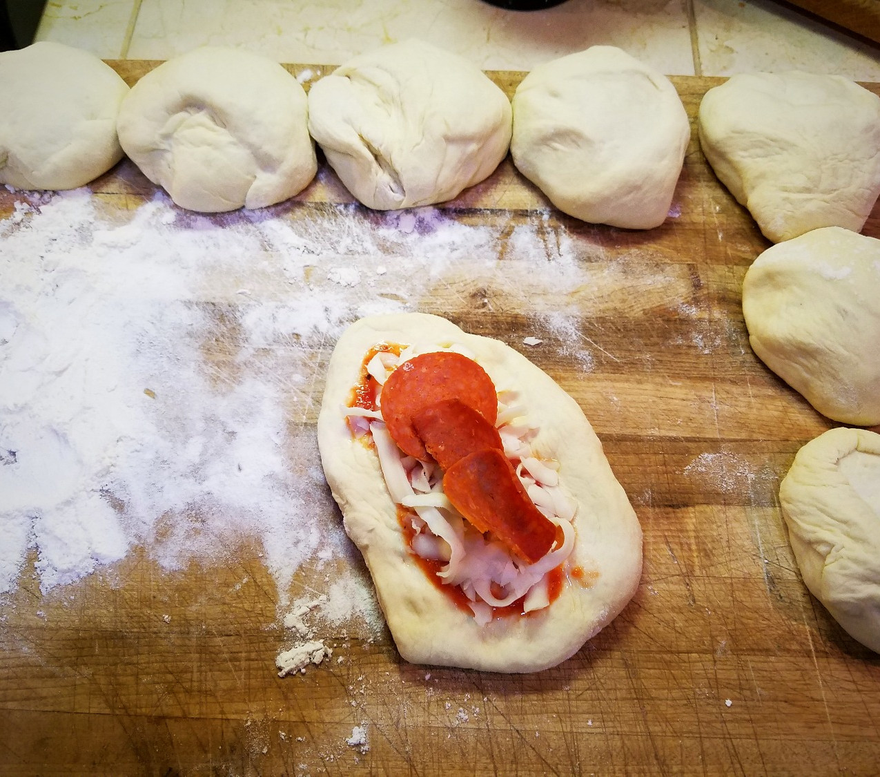 After mixing the dough