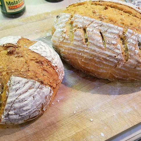 Hazelnut Molasses Sourdough Bread