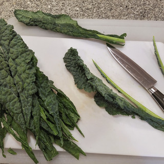 Rinse and remove the stems.