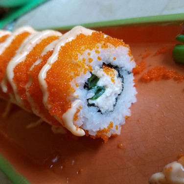 Smoked Tuna Masago Sushi Roll
