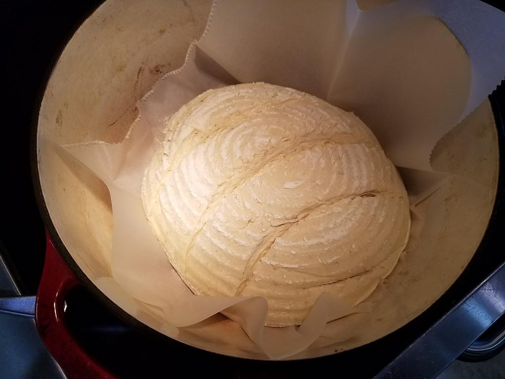 Formed Sourdough Bread in a Dutch Oven