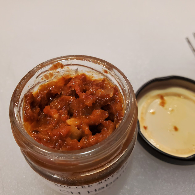Prepared chocolate habanero paste. I made this from fresh chili's and it's super hot. Without this I would use a regular fresh habanero, deseeded and chopped.