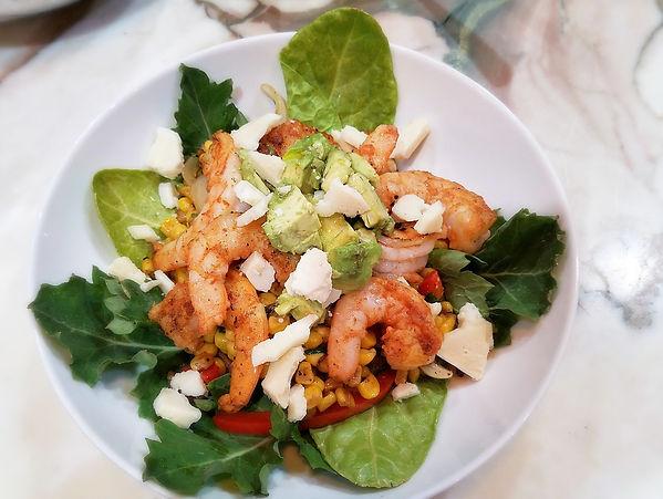 Gulf Shrimp andSummer Corn Stir-fry Salad