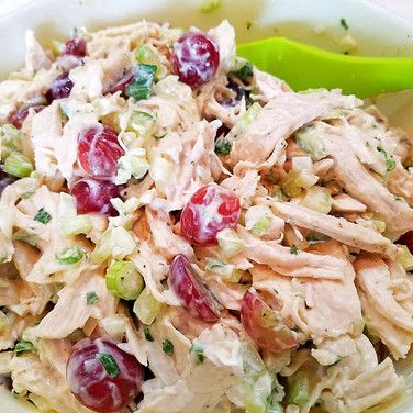 Summer Chicken Salad with Red Grapes