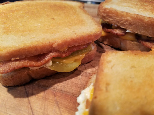Hatch Chili Grilled Cheese with Bacon