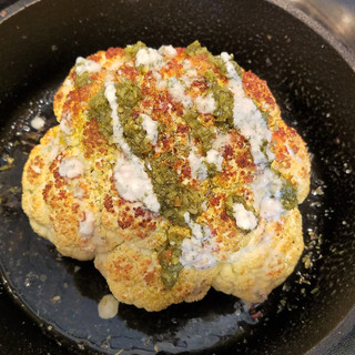 My husband is more a fan of the tahini sauce and he's right. It's really the star that enhances the cauliflower roast.