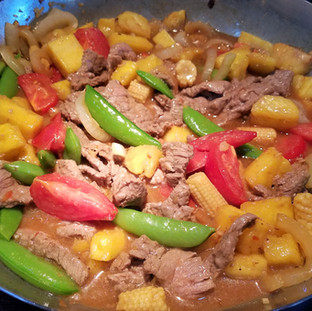 Add the beef and stir-fry sauce