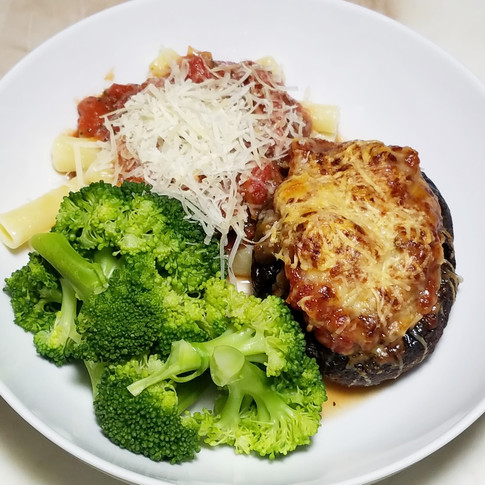 Sausage Stuffed Portabello Mushrooms