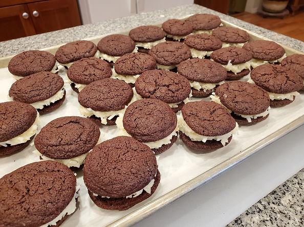 Almond Joy Sandwich Cookies