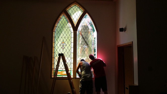 Church Window Stained Glass Restoration