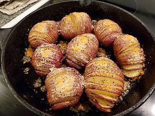Hasselback Red Potatoes