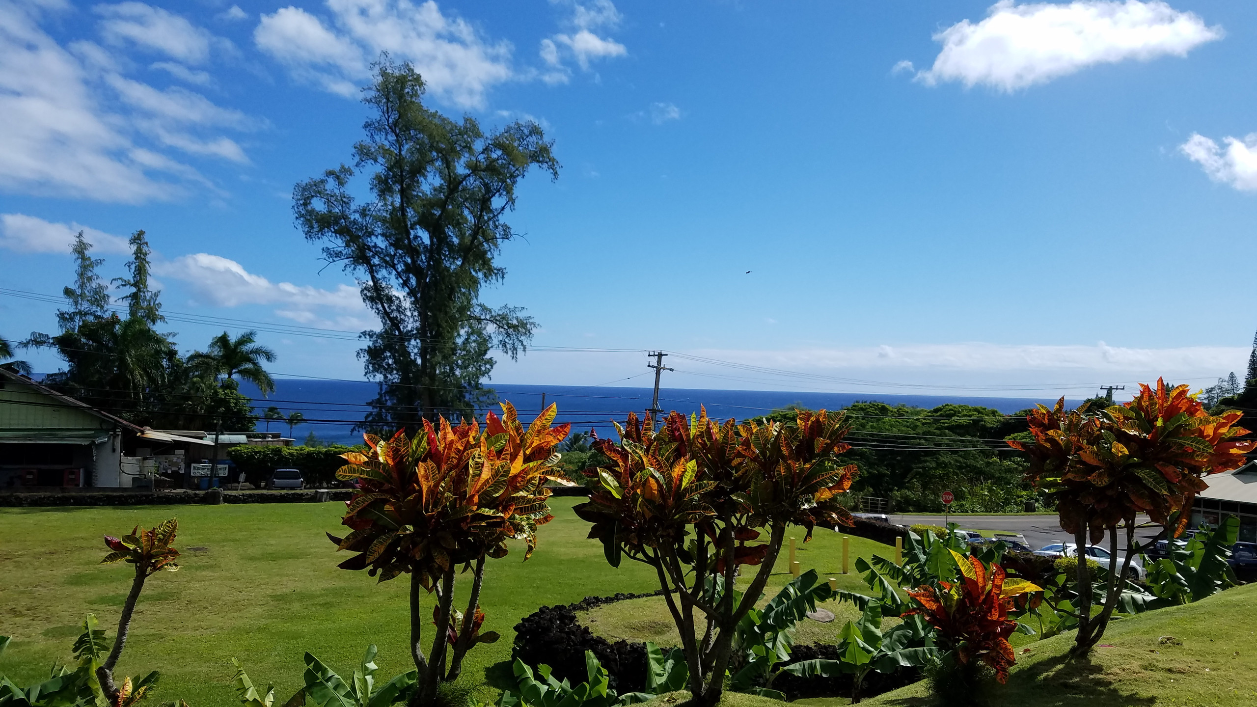 View from The Hana Ranch Restaurant