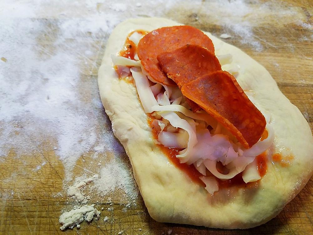 Stuffed Sourdough Pizza Rolls