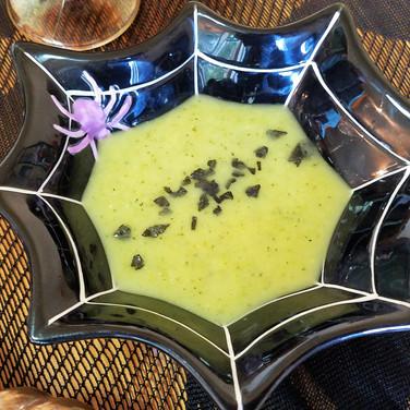 """Zucchini Pea """"Slime"""" Soup"""