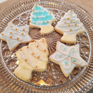 Retro Christmas Sugar Cookies