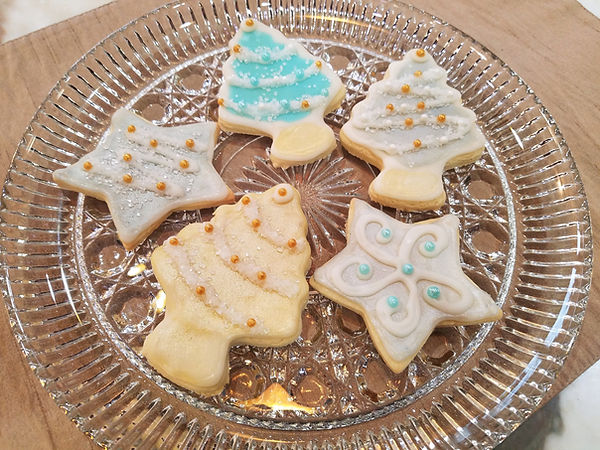 Retro Christmas Sugar Cookies