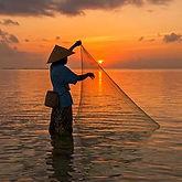 Sea, sunset Bali Indonesia