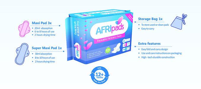 AFRIpads - reusable sanitary pads