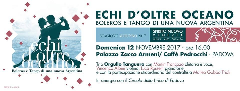 Domenica 12 novembre in compagnia di Martin Trocozo e Vincenzo Albini