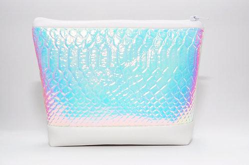 Shiny Snake - holographic make up bag