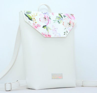Floral White - MIDI backpack