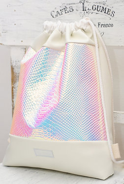 White Snake - holographic gym bag