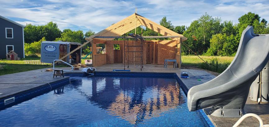 Pool House in Progress