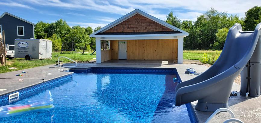 Pool House Finished