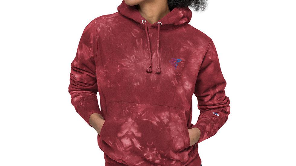 Flosse 6 & Champion tie-dye hoodie Colab