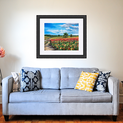 Poppy Field Original Painting