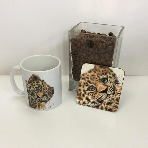 Jaguar Mug & Coaster Set