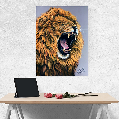 Roaring Lion Fine Art Print