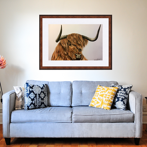 Highland Cow  Original Drawing