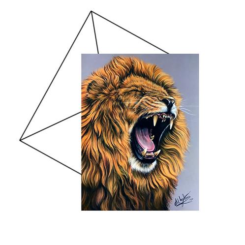 Lions Roar Fine Art Card Blank