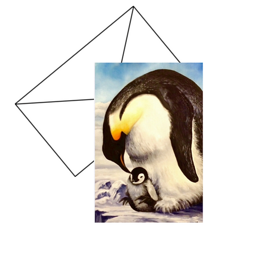 Penguin Love Card Blank