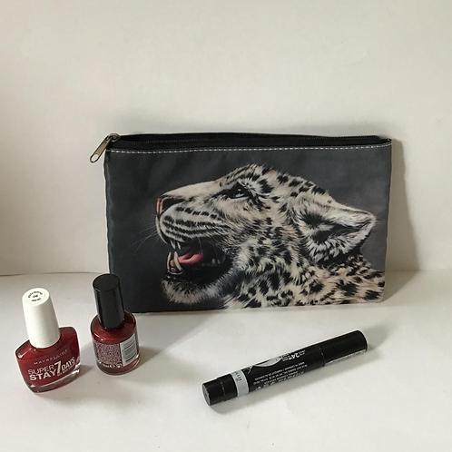 Snow Leopard Pencil Case/ Cosmetic Bag