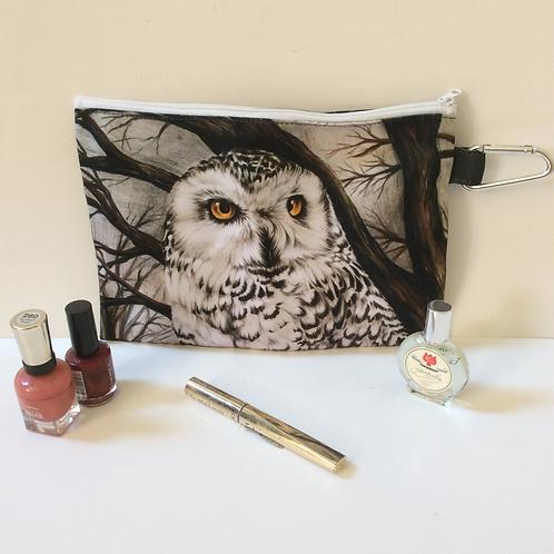Snowy Owl Pencil Case-Cosmetic Bag