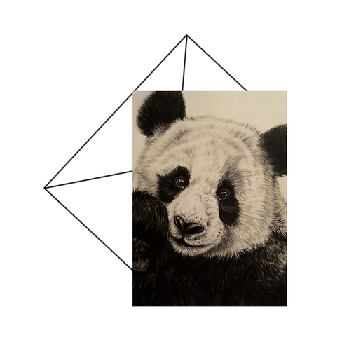 Giant Panda Art Card, Wildlife Art Card