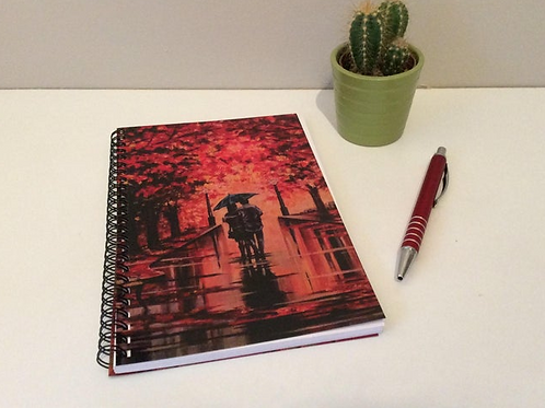Romantic Theme Lined Notebook