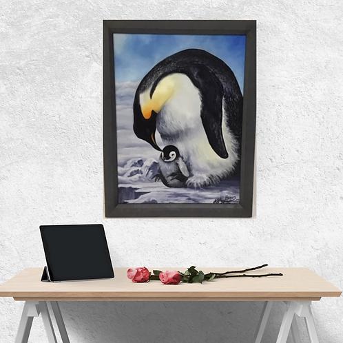 Emperor Penguin Original Oil Painting
