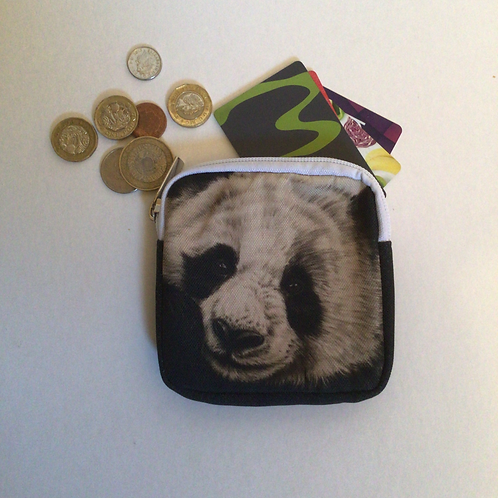 Giant Panda Square Coin Purse/Accessory Pouch