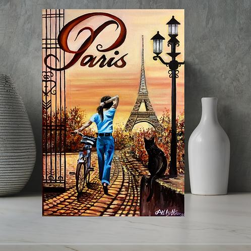 Parisian Pathways Original Oil Painting