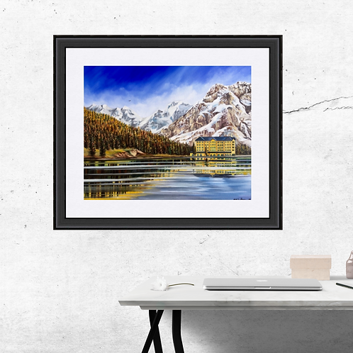 Lake Misurina The Dolomites Italy Art Print