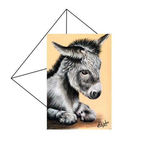 Cute Little Donkey Art Card Blank