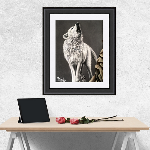 Howling Arctic Wolf Fine Art Print