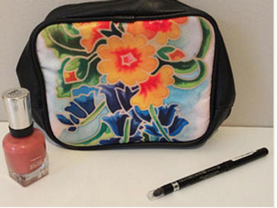 Floral Toiletry Cosmetic Bag