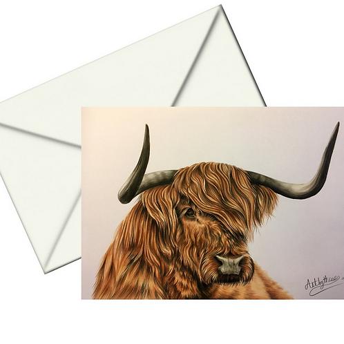 Highland Cow Card Blank