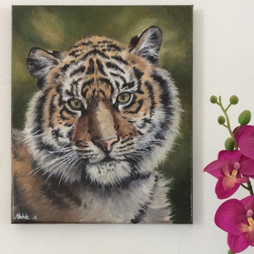 Tiger Cub Original Oil Painting